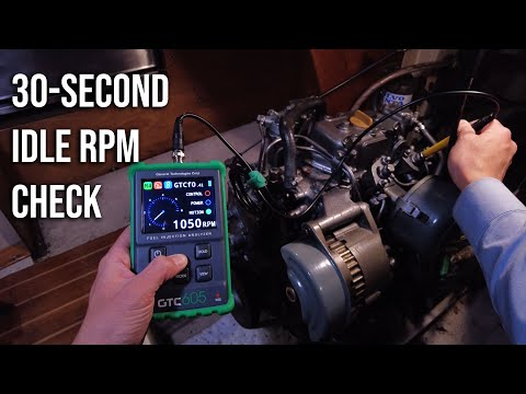Quickly Check Mechanical Diesel Idle Speed with the GTC605