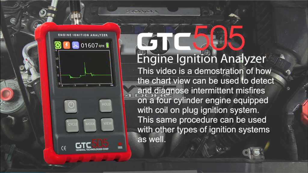 GTC505 misfire detection tutorial screenshot