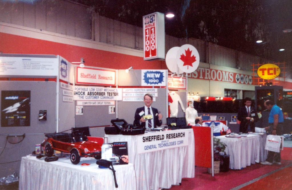 GTC booth at a Las Vegas convention in 1990