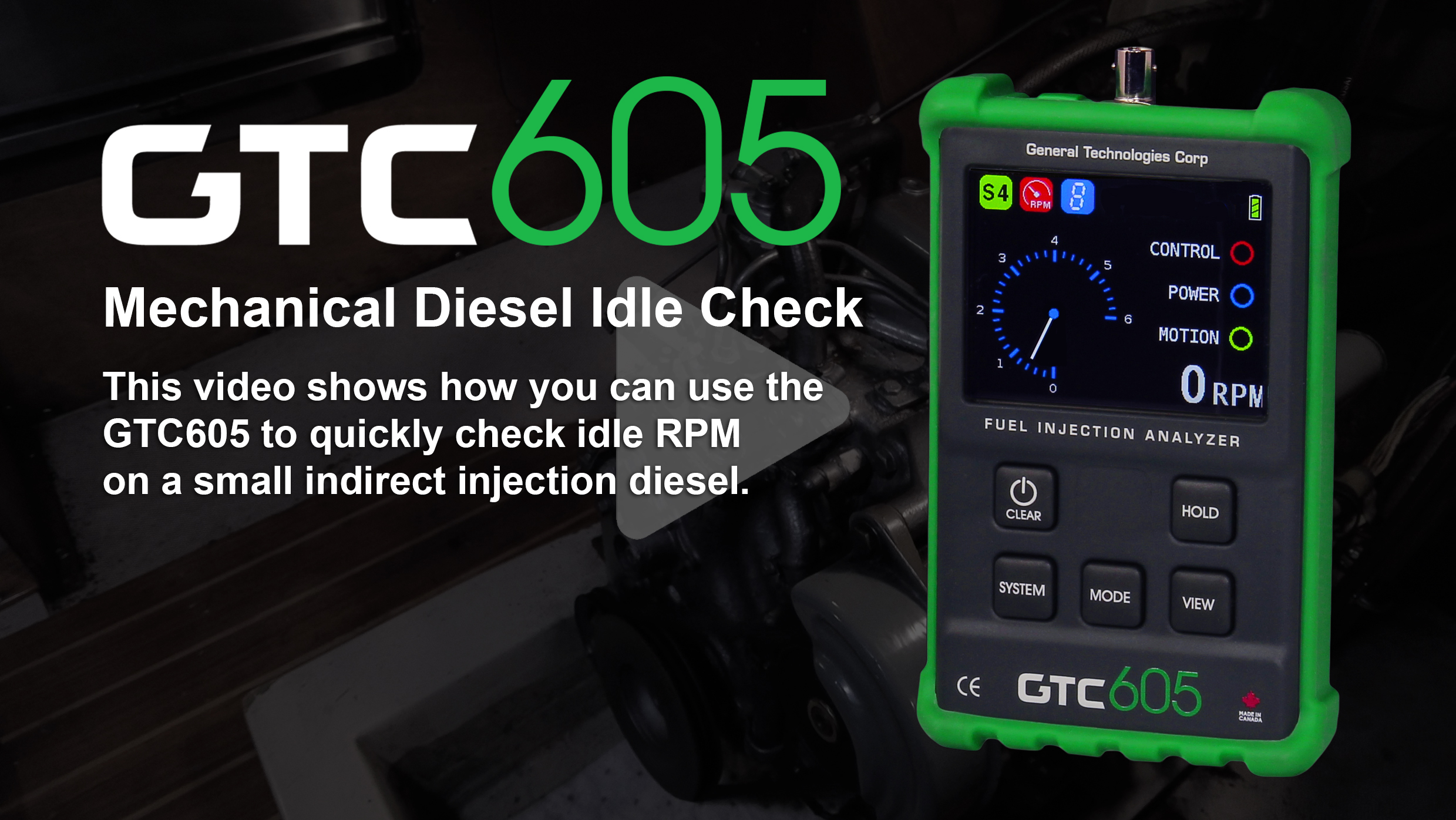 GTC605-Mechanical-Diesel-Idle-Check-Title-Image