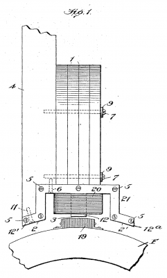 diagram of magneto coil and magnet arrangement